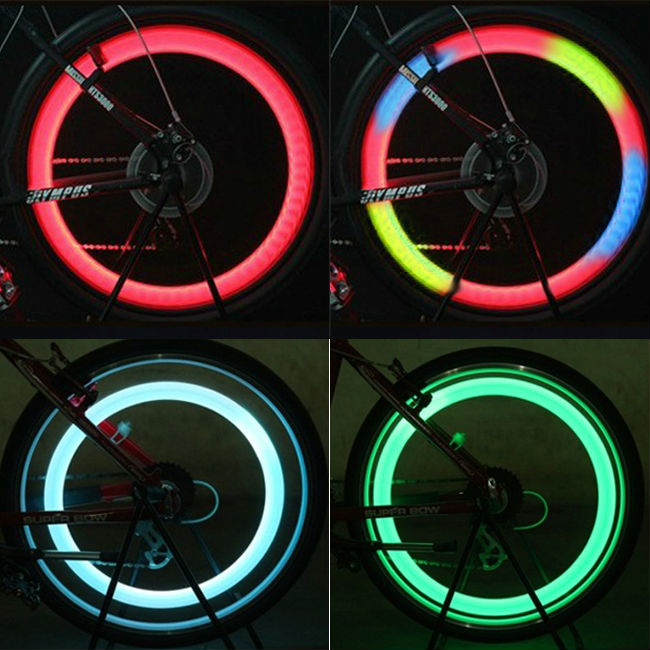 Mountain Bike Hot wheels LED Cycling Wheel Lamp Tire Lamp Bicycle Valve Lights
